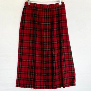 REQUIREMENTS Pleated Skirt Red & Black Plaid 12